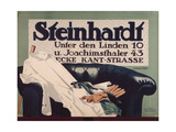 Advertisement for 'Steinhardt' Gentlemen's Outfitters in Berlin, 1912 Giclee Print by Hans Lindenstaedt