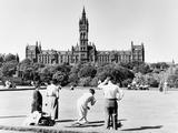 Bowling in Kelvingrove, 1955 Papier Photo