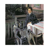 Portrait of Yulia Yevstafievna Kustodieva (1880-1942) the Artist's Wife, 1903 Giclee Print by Boris Mihajlovic Kustodiev