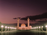 The Bourguiba Mosque at Night Photographic Print by  Tunisian School