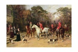 The Meet at the Manor House, 1908 Giclee Print by Heywood Hardy
