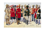 Imperial Service Troops, Illustration from 'Armies of India' by Major G.F. MacMunn, Published in… Giclee Print by Alfred Crowdy Lovett