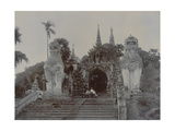 The Shwedagon Pagoda at Rangoon, Burma, C.1860 Giclee Print by  English Photographer