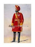 The Commandant of the Bharatpur Infantry, Illustration for 'Armies of India' by Major G.F.… Giclee Print by Alfred Crowdy Lovett