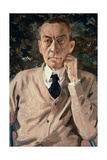 Portrait of the Composer, Sergei Vasilievich Rachmaninov (1873-1943) 1925 Giclee Print by Konstantin Andreevic Somov