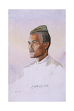 A Khas Gurkha, of the 9th Gurkha Rifles, Illustration for 'Armies of India' Giclee Print by Alfred Crowdy Lovett