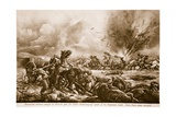 A Bavarian Battery Caught by British Gun Fire While Limbering-Up South of the Bapaume Road Giclee Print by Christopher Clark