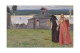 In a Secluded Monastery, 1915 Giclee Print by Mikhail Vasilievich Nesterov
