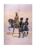 Soldier of the 37th Lancers (Baluch Horse) Baluch, the 36th Jacob's Horse Pathan and the 35th… Giclee Print by Alfred Crowdy Lovett