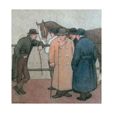 The Horse Dealers Giclee Print by Robert Polhill Bevan