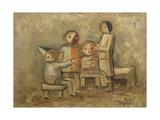 Little Family, 1929 Giclee Print by Tadeusz Makowski