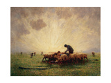 Sunrise, the Morning Feed Giclee Print by John Robert Keitley Duff