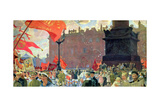 Festivities Marking the Opening of the Second Congress of the Comintern and Demonstration on… Giclee Print by Boris Mihajlovic Kustodiev