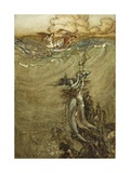 Jewels from the Deep, 1909 Gicleetryck av Arthur Rackham