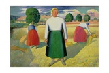 The Harvesters, 1909-10 Giclee Print by Kasimir Malevich