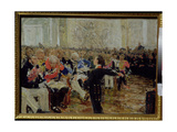 Aleksandr Sergeevich Pushkin (1799-1837) Performing Poetry at the Lyceum on the 8th January 1815,… Giclee Print by Ilya Efimovich Repin