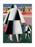 To the Harvest, Martha and Vanka, 1928 Giclee Print by Kasimir Malevich