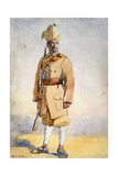 Soldier of the Khyber Rifles, Illustration for 'Armies of India' by Major G.F. MacMunn, Published… Giclee Print by Alfred Crowdy Lovett