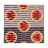 Red Triangles in Circles Giclee Print by Lyubov Sergeevna Popova