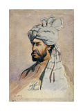 Soldier of the Kurram Militia, Out of Uniform, Illustration for 'Armies of India' by Major G.F.… Giclee Print by Alfred Crowdy Lovett
