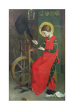 St. Elizabeth of Hungary Spinning Wool for the Poor, C. 1895 Giclee Print by Marianne Stokes