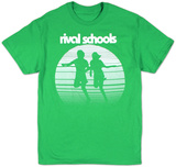 Rival Schools - Faded Logo on Kelly Green T-shirts