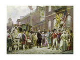 Washington's Inauguration at Philadelphia in 1793 Giclee Print by Jean Leon Gerome Ferris