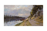 The Seine at Puteaux Giclee Print by Albert-Charles Lebourg