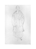 Standing Woman with Coat, 1916 Giclee Print by Gustav Klimt
