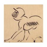 Crouching Monkey, c.1912-13 Giclee Print by Henri Gaudier-brzeska