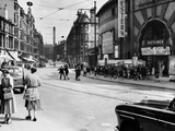 View Looking East Along Dumbarton Road to Partick Cross, 1955 Papier Photo