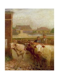 Drover Road, Croydon, Market Day, 1903 Giclee Print by John Burell Read
