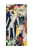 The Aviator, 1914 Giclee Print by Kasimir Malevich