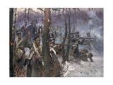 Battle of Olszynk Grochowsk, Warsaw, 25 February 1831, 1912 Giclee Print by Wojciech Kossak