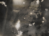 Photograph Taken When Royal Air Force Lancasters Attacked Dresden Reproduction photographique par  German photographer