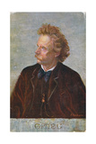Postcard Depicting Edvard Hagerup Grieg (1843-1907) Giclee Print by  Austrian School