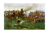 The 28th (1st Gloucestershire Regiment) at Waterloo, 1914 Giclee Print by William Barnes Wollen