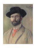 Portrait of Jerzy Warchalowski (1873-1939), 1902 Giclee Print by Leon Wyczolkowski
