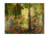 The Garden of Enchantment - Stage Set for 'Parsifal', 1914 Gicléetryck av Thomas Edwin Mostyn