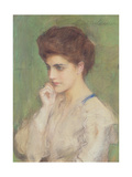 Woman Deep in Thought, c.1910 Giclee Print by Teodor Axentowicz