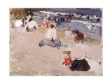 People Sitting on the Beach, 1906 Giclee Print by Joaquín Sorolla y Bastida