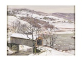 The Covered Bridge Giclee Print by George Gardner Symons