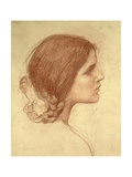 Head of a Girl, c.1905 Giclee Print by John William Waterhouse
