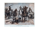 Battle Between English and Turkish Troops in Mesopotamia, c.1915 Giclee Print by Max Tilke