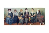Group of Actors, 1913-24 Giclee Print by Nikolaj Alekseevich Kasatkin
