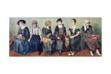 Group of Actors, 1913-24 Giclee Print by Nikolaj Alekseevich Kasatkin