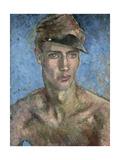 Young Man Wearing a Sun Visor Giclee Print by Glyn Warren Philpot
