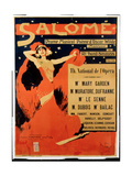 Poster Advertising 'Salome', Opera by Richard Strauss (1864-1949) Giclee Print by Max Tilke
