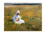 In a Field of Buttercups Giclee Print by Marianne Stokes