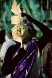 Saried Lady with Gold Leaf Mask, Venice Carnival, 1994 Photographic Print